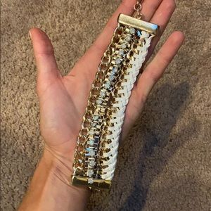 Gold and white bracelet